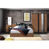 Buy cheap Wulnut Wood Grain Melamine Brown Bedroom Furniture Large Storage Space product