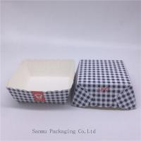 Disposable Square Cupcake Liners , Black And White Checkered Cupcake Wrappers