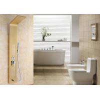 Buy cheap ROVATE Japan Massage Stainless Steel Shower Panel Gold Surface For Bath product