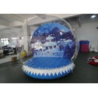 Buy cheap 0.6mm PVC Tarpaulin Inflatable Christmas Snow Globes 3m Hot Air Welding product