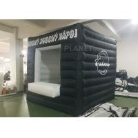 Buy cheap Black Small Inflatable Advertising Tent Oxford Cloth Logo Printing product