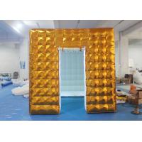 Buy cheap Gold Inflatable Photo Booth 2.5 X 2.5 X 2.5 M Two Doors CE Approved product
