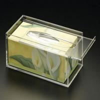 Buy cheap 25cm * 15cm * 9cm Acrylic Tissue Box Holder With Customize Logo product