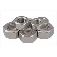 Buy cheap SS304 / 316 A2/A4 SAE Stainless Steel Hex Nuts Fastener For Threaded Rod Passivated 1/2 product