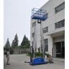 Buy cheap Dual mast vertical access platform aerial work platform aluminum lift product