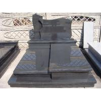 Buy cheap Dark Grey G654 Granite Stone Tombstone Pandang Dark Granite Cross Monument Design product