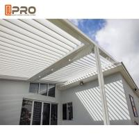 Buy cheap Opening Roof Motorized Aluminium Louvre Pergola For Outdoor Restaurant product