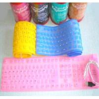 Buy cheap Silicone Flexible FULL SIZE PC MAC Keyboard USB Christmas Gift product