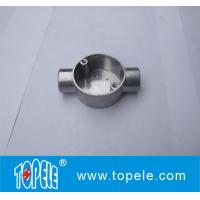 China TOPELE 20mm / 25mm BS4568 / BS31 Electrical Two Way Circular Angle Aluminum Junction Box, Electrical Conduit Fittings on sale