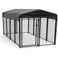 Buy cheap Weather Resistant Metal Dog Kennel Outside Dog Run With ISO 9001 Certificate product