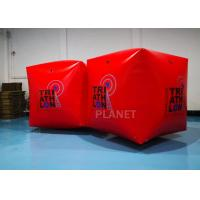 Buy cheap Red PVC Tarpaulin 1.5M Inflatable Water Floating Buoy  Cube / Square Shape With Logo product