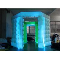 Buy cheap 2 Doors Inflatable Photo Booth Kiosk Diamond Shape With Air Blower product