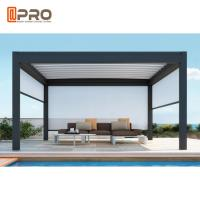 Buy cheap Waterproof Automatic Aluminium Opening Louvre Roof Pergola With Side Screens product