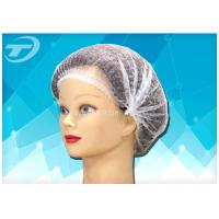 "Buy cheap Disposable non-woven  clip cap 20 "" , single elastic , made from SPP fabric product"