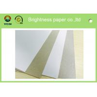 Buy cheap Anti Curl Whiteness Grey Back Duplex Board With One Side Offset Printing product