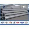 Quality Galvanized tubular steel utility poles , Steel Q345  High Voltage high mast pole for sale
