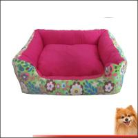 Washable Dog Beds Canvas fabric dog beds with flower printed China manufacturer