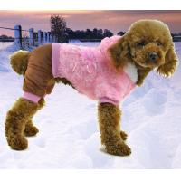 China Plush soft warm dog clothes for winter puppy coat on sale