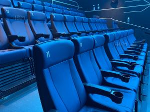 Buy cheap Modern 4D Cinema Motion Seats Leather Chair Pneumatic / Electronic Effects product
