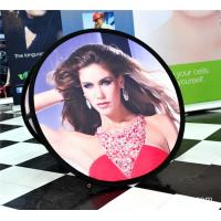 Buy cheap Small Round Trade Show Banners Stand For Indoor Display 100*100cm product