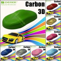 Buy cheap 3D Carbon Fiber Vinyl Wrapping Film bubble free 1.52*30m/roll - Apple Green product