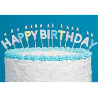 Buy cheap Light Pure Color Happy Birthday Letter Candles 13 Pcs , Alphabet Candles For Cakes product
