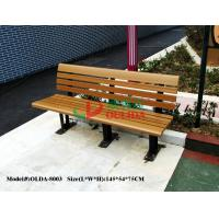Quality Wood Plastic Composite Outdoor Park Benches , Composite Wood Bench With Back for sale