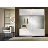Buy cheap Durable High Gloss Bedroom Furniture With MDF Mirror Sliding Door Wardrobe product
