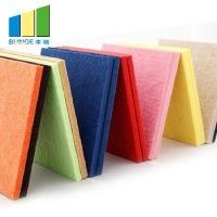 Buy cheap Sound Absorption Polyester Acoustic Panels 9mm Thickness In Red / Blue / Yellow from wholesalers