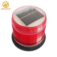 Quality Red Amber Flashing Marine Solar Warning Light Magnet Base Waterproof IP68 for sale