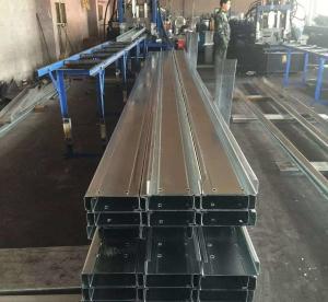 China Q235b Q345b Galvanised Steel Purlins Cold Bending Spacing Steel Channel on sale