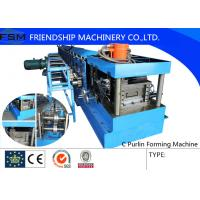 China 40mm - 80mm C Steel Purlin C Z Purlin Roll Forming Machine With Hydraulic Station on sale