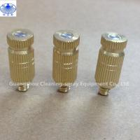 China Brass indoor outdoor high presure fine fog mist spray nozzle for mist cooling system on sale