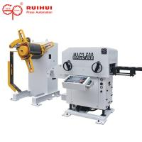 Cutting Metal Metal Straightener Equipment / Bar Decoiling And Straightening Machine
