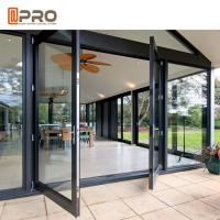 Buy cheap Large Size Heavy Duty Aluminium Hinged Doors / Frosted Tempered Glass Door product