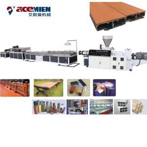 Buy cheap Plastic Profile WPC Extrusion Machine , PVC Wood Tile Die Extrusion Line product