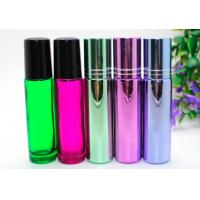 Buy cheap  Perfume Empty Roll On Bottle 10ml Amber Glass With Metal Roller Ball product