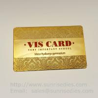 Buy cheap Printed etching business cards wholesale in China etching process factory product