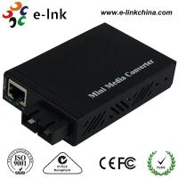 Buy cheap E- Link Single Mode SC Fiber Ethernet Media Converter 10 / 100 / 1000Mbps product