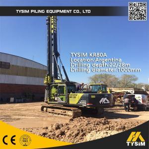 Buy cheap TYSIM KR80A Piling Rig Machine 22m Interlocking Kelly Bar Diameter 1000mm from wholesalers