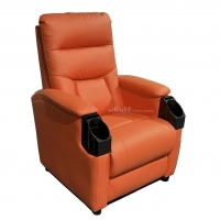 Buy cheap Leather Home Movie Theater Seats VIP Sofa With Tilting Cup Holder product