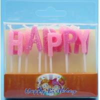 Buy cheap Glitter Alphabet Letter Birthday Candles Non Toxic For Cake Decorative Pure Color product