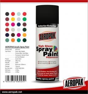 China AEROPAK handy spray Acrylic fast dry high glossy 400ml aerosol Spray Paints on sale