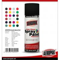 Buy cheap Colorful with fast dry all purpose spray paint Acrylic Resin AEROPAK painting product