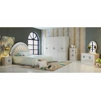 Buy cheap Durable PU Leather Khaki  and White Option Color With 2.4 Meter  High Gloss Wardrobes product