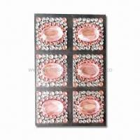 Buy cheap MP4 Player/Cell Phone Stickers, Decorated with Crystal and Rhinestones, Made of Acrylic product