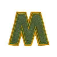 Buy cheap Custom made Chenille embroidery patches with Laser cut edge M     product