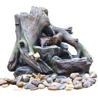 Buy cheap OEM Acceptable Rock Water Fountains In Fiberglass / Resin Material product