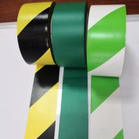 Buy cheap Stripe Color Pvc Warning Tape Caution Tape Strong Adhesive Force Customized Size product