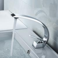Buy cheap Silver Color Bathroom Basin Faucets , Compact Contemporary Faucets Long Life product